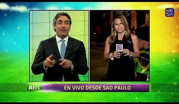 Brasil 2014: Hincha se bajó el pantalón y arruinó enlace en vivo de periodista
