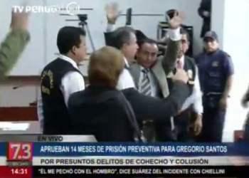 [VIDEO] Gregorio Santos va 14 meses a prisión preventiva por orden del PJ