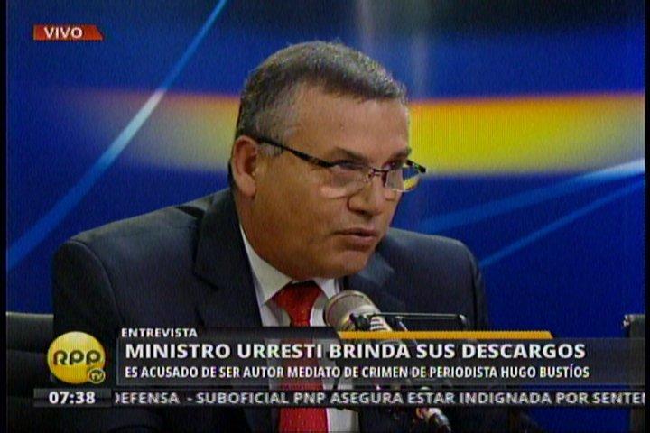 "Ministro Daniel Urresti tilda de ""delincuente"" a militar que lo acusó"