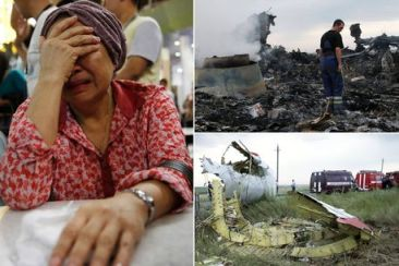 FOTO The Mirror / Videos Youtube / Así fue el derribo del avión de Malaysia Airlines en Ucrania