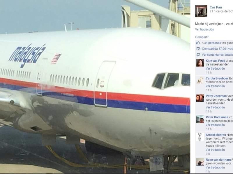 La foto premonitoria de un pasajero del derribado avión de Malaysia Airlines