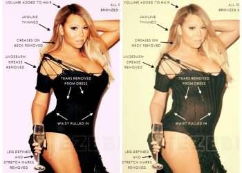 [FOTOS] Así es Mariah Carey sin Photoshop y sus polémicos retoques