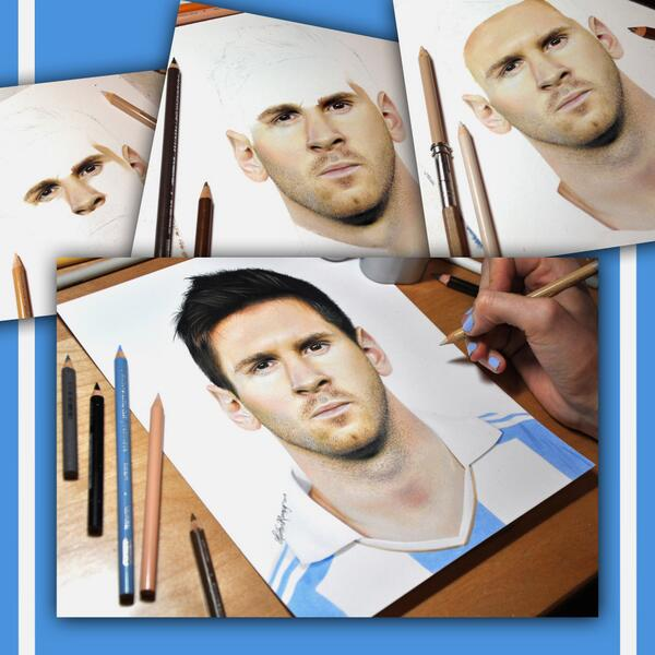 [VIDEO] Dibuja a Lionel Messi a lápiz y el resultado es impresionante