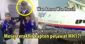 El último mensaje en WhatsApp del piloto de derribado avión de Malaysia Airlines