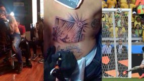 [FOTO] Chileno Pinilla se tatuó jugada que pudo mantener a su país en Brasil 2014