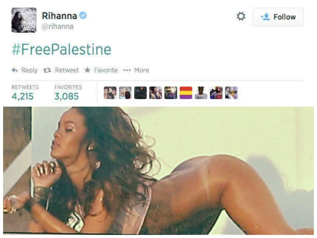 Rihanna escribe 'Palestina libre' en Twitter y es víctima de troleo infernal