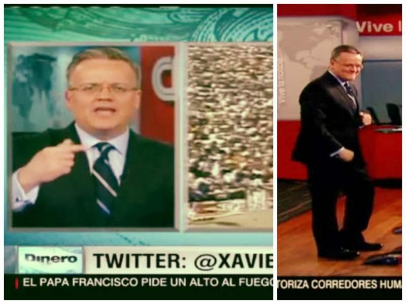 [VIDEO CNN Dinero] ExMenudo Xavier paga apuesta mundialista en CNN y bailó #SúbeteamiMoto