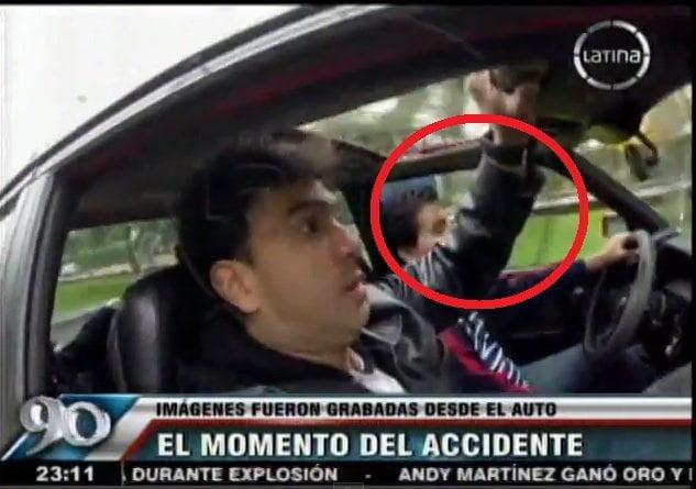 [VIDEO] Impactante: Cámara dentro de auto grabó trágico accidente de Surco