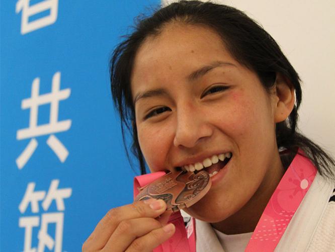 La judoca Brillith Gamarra puso en alto el nombre del Perú.