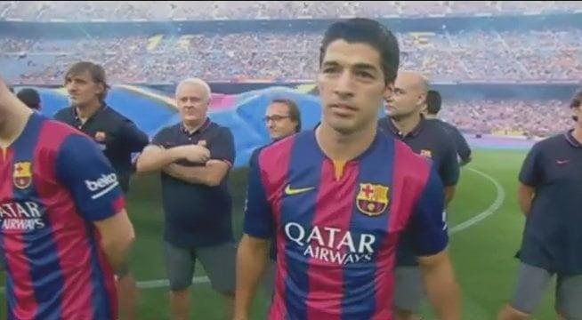 [VIDEO] Así fue presentado Luis Suárez con la camiseta del FC Barcelona