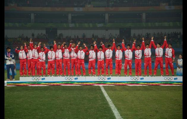 La selección peruana  Sub 15 de fútbol subió a lo más alto del podio en Nanjing.