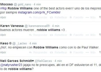 Error: Mataron al cantante Robbie Williams en Twitter y Facebook