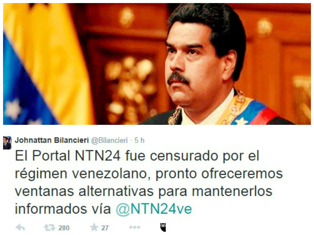 [VIDEO] Censura: Maduro bloquea páginas webs de NTN24 y NoticiasRCN