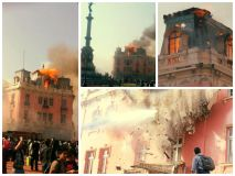 [FOTOS] Gran incendio se registra en casona de la Plaza Dos de Mayo