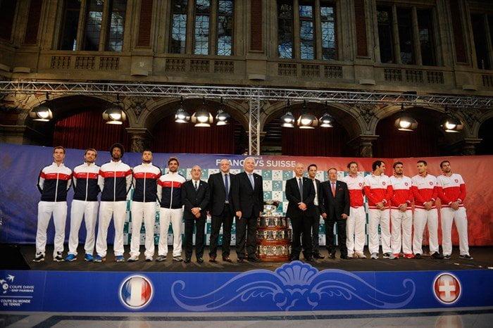 A partir de mañana, franceses y suizos se enfrentarán por el máximo trofeo de selecciones en el tenis: la Copa Davis.