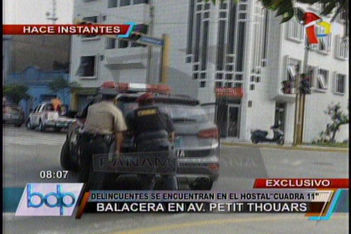 [VIDEO] Balacera en Santa Beatriz:Varios detenidos y heridos en hotel de Lima