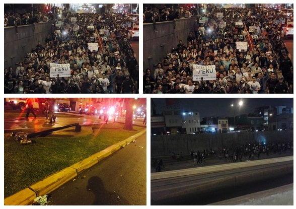 """Al menos 10 mil jóvenes protestaron contra """"ley Pulpín"""" ayer en Lima"""