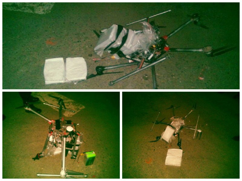 Drone cargado con droga cae al norte de México