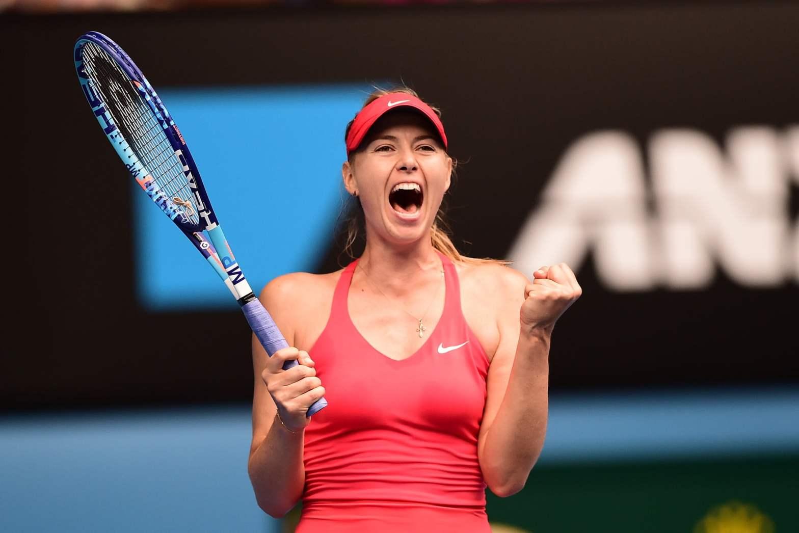 María Sharapova jugó a gran nivel para instalarse en la penúltima ronda de Melbourne.