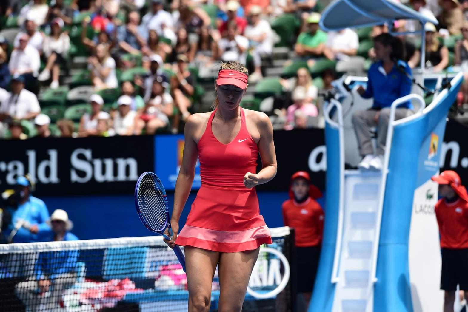 María Sharapova mostró su potencial ante la china Peng.