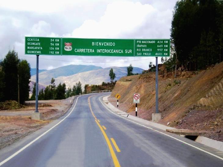 La Carretera Interoceánica Sur es una vía muy poca utilizada por la cadena logística-exportadora de Madre de Dios.