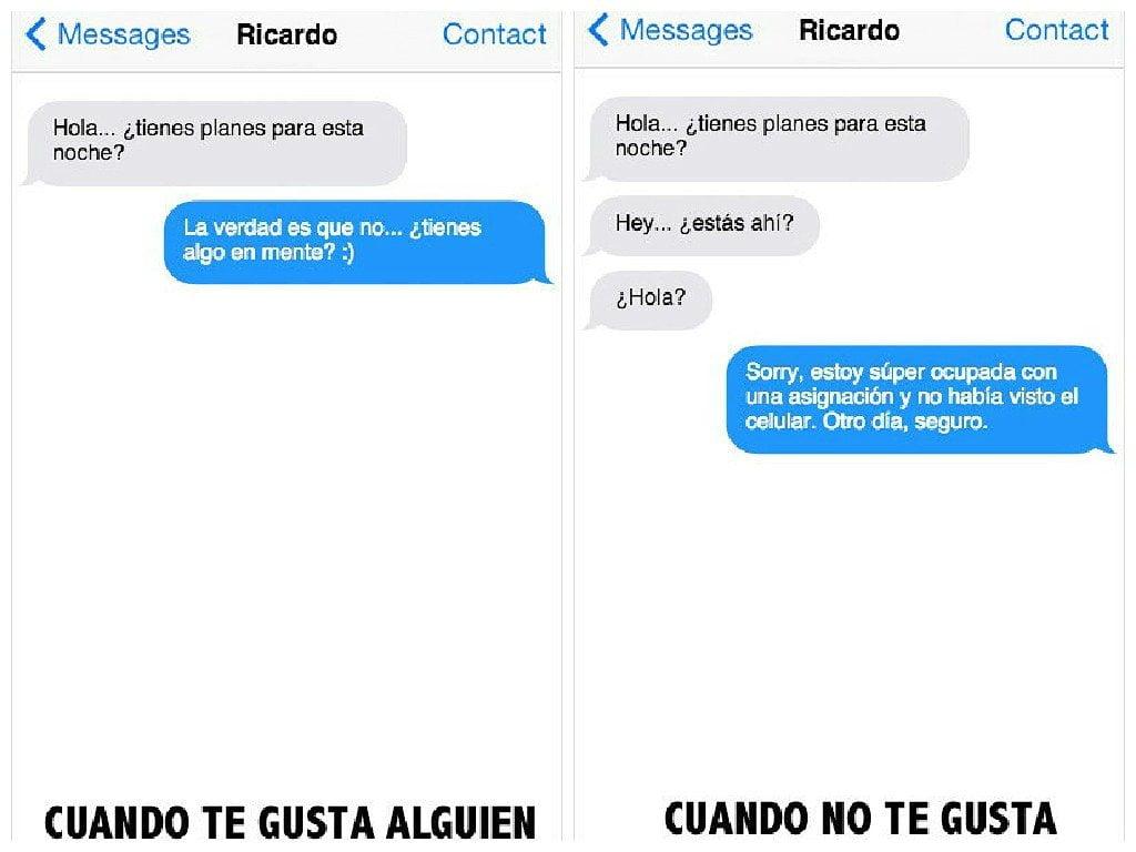 11 mensajes de texto para saber si le gustas o no a alguien