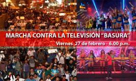Marcha contra la TV Basura llegará a canales en plena hora de realitys