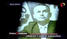 Daniel Urresti tiene 17 asesores en el Ministerio del Interior [VIDEO]