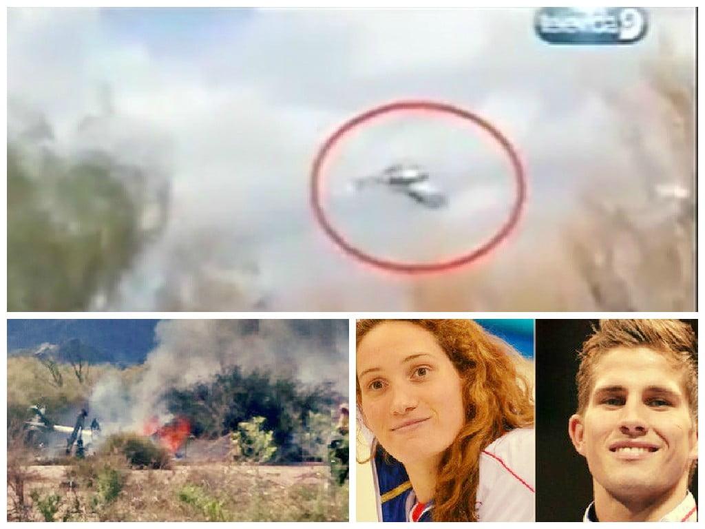 Así chocaron en el aire dos helicópteros en Argentina