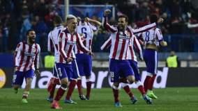 Atlético de Madrid consiguió una angustiosa clasificación a los cuartos de final de la Champions.