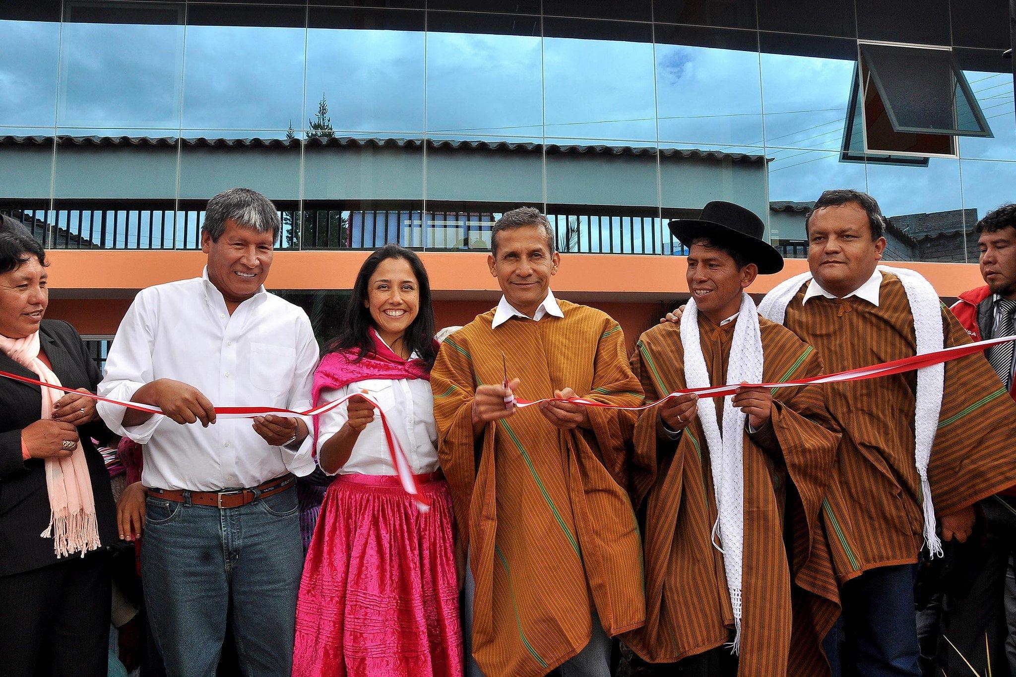 Presidente Humala inaugura obras de mejoramiento en I.E. 38132, en Los Morochucos, Cangallo, Ayacucho