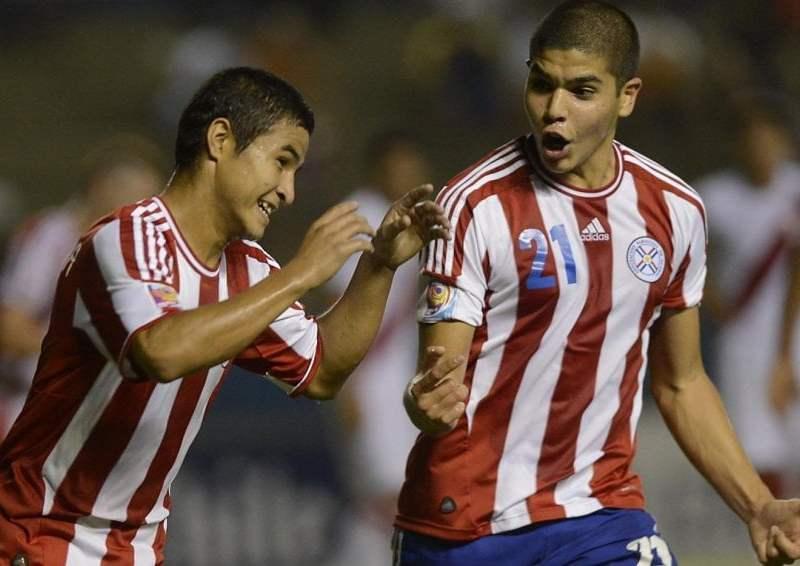 Los paraguayos celebraron el triunfo y clasificación al hexagonal.
