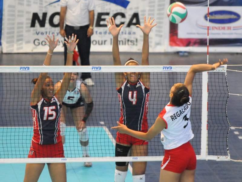 Las dominicanas dieron cuenta fácil de Peru en la Copa Panamericana sub 18.
