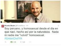 """Ricardo Morán confiesa: """"Soy homosexual desde el día en que nací"""""""
