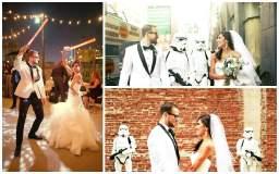 """Star Wars: Mira esta boda inspirada en """"La guerra de las galaxias"""""""