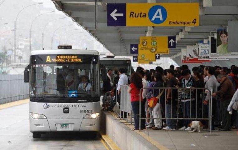 Semana Santa : Buses del Metropolitano de Lima con horario especial