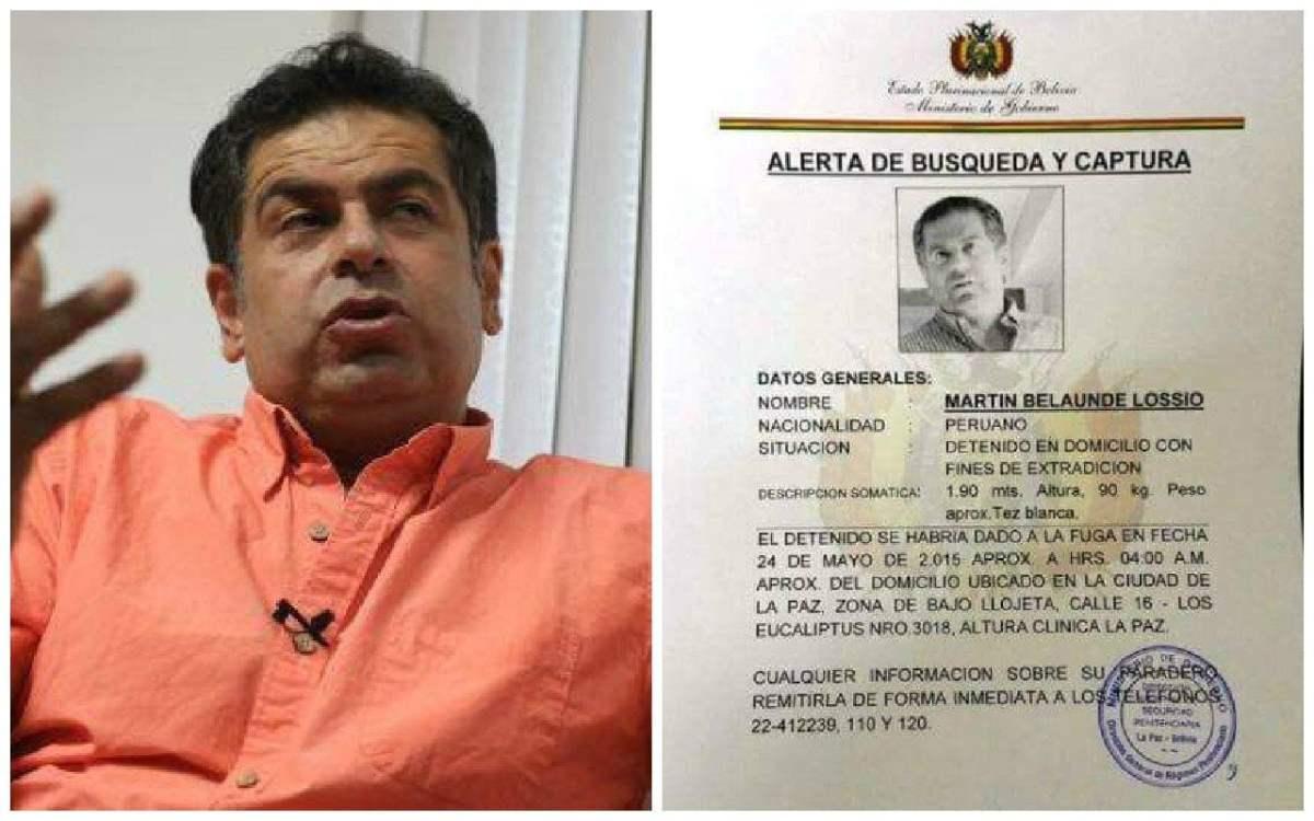 Martín Belaunde fuga y Bolivia emite orden de búsqueda y captura