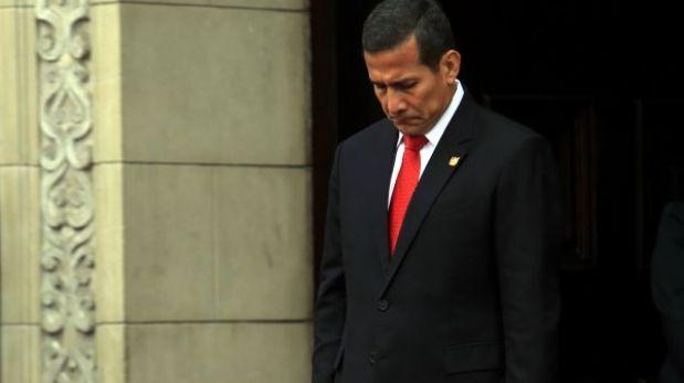 Ollanta Humala tiene sólo 21% de aprobación y cae seis puntos