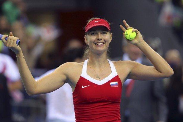 Maria Sharapova se ubica en el segundo lugar del ranking femenino de tenis.