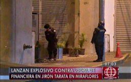 Miraflores: Explota granada y alarma a vecinos del jirón Tarata