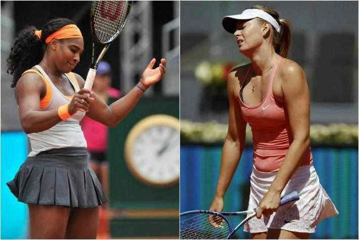Serena Williams y Sharapova fueron eliminadas en Madrid.