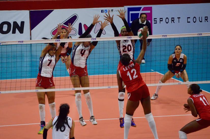 Pese a la derrota ante los dominicanas, la nacional Ángela Leyva fue la máxima anotadora del encuentro.