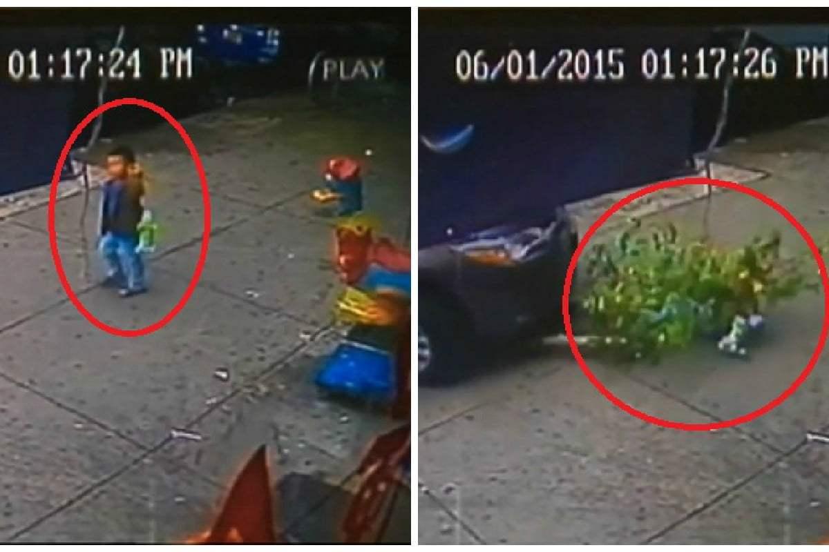 Impactante: niño sobrevive tras ser atropellado por auto [VIDEO]