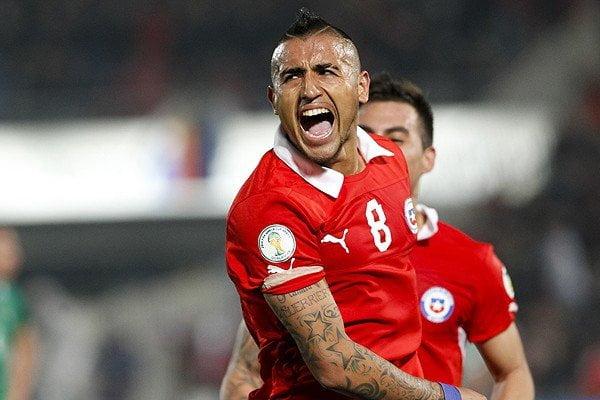 De los tres goles anotados por Arturo Vidal, dos los ha hecho bajo la vía del penal.