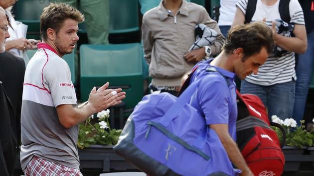 Wawrinka sorprendió a Federer y clasificó a semifinales.