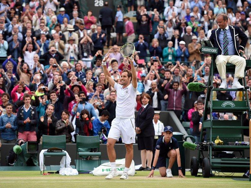El francés Gasquet sorprendió en Wimbledon tras eliminar al top 4 Wawrinka.