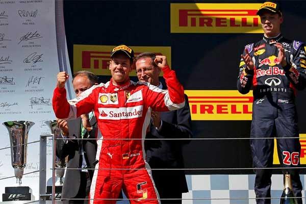 Vettel hizo una gran carrera en Hungría con su Ferrari.