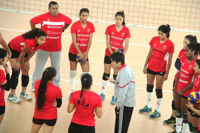 La selección bicolor se viene preparando en el Centro de Alto Rendimiento del Voleibol que se ubica en  VIDENA de San Luis.