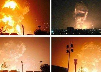 China: Usuarios publicaron imágenes impresionantes tras sucesivas detonaciones