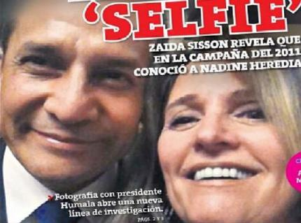 """Ollanta Humala y su selfie con Zaida Sisson implicada en caso """"Lava Jato"""""""